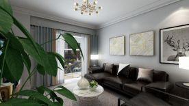 六安華安龍泊灣現代風格三居室裝修案例,96平米的房子裝修多少錢?