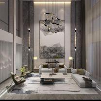 北京優山美地400㎡別墅裝修案例丨現代元素演繹雅懷素態的輕奢生活