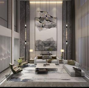 北京优山美地400㎡别墅装修案例丨现代元素演绎雅怀素态的轻奢生活