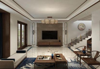 烟台海映丽?#26696;?#31471;大气的中式风格三居室装修案例