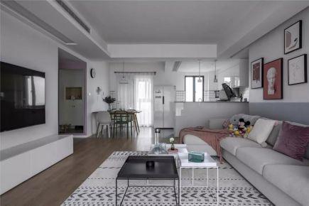 蘇州香溢花園105㎡現代簡約三居室裝修,低飽和度的色調,淡雅舒適的家