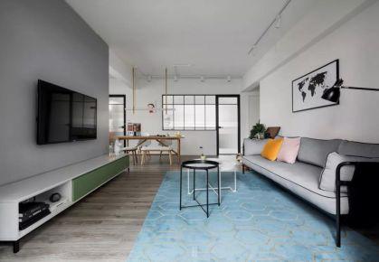 蘇州林泉雅舍100㎡現代簡約三居室裝修效果圖