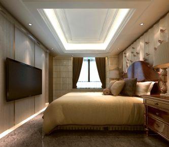 广州名汇大厦新中式风格四居室装修效果图,豪装雅居