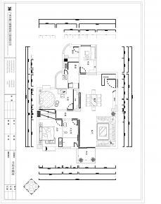 广州名汇大厦新中式风格家装实景案例