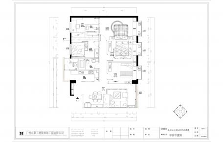 广州云天汇简约中式风格四居室装修效果图