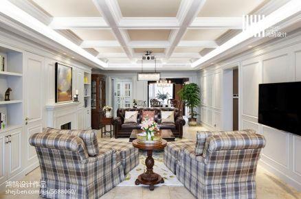 汕头裕通花园138平美式三居室装修效果图