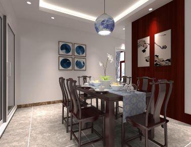 福州江南水都美域150平三居室新中式风格装修实例