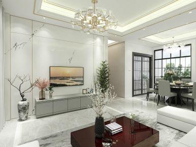 廣州從化小區現代簡約風三居室裝修案例,簡約大氣