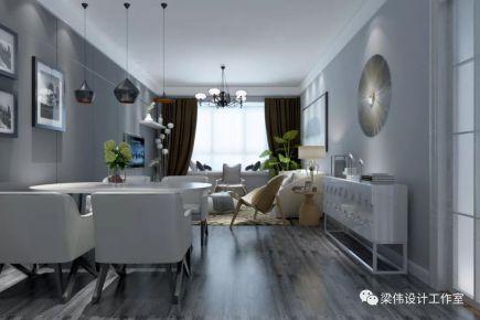 天津实泽园现代简约三居室装修,美观大方