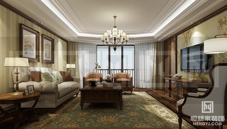 溧陽涵田半島別墅三居151平歐式風格裝修案例