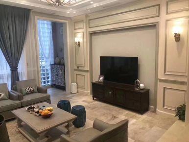 福州长乐泰禾红誉二期120㎡美式三居室装修,精致又美观