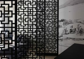 重庆旭辉城新中式三居室 | 黑白灰意境,超有品质感