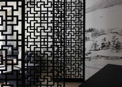 重庆旭辉?#20999;?#20013;式三居室 | 黑白灰意境,超有品质感