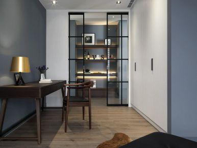 重庆风花树小区以蓝色作为主色调,简约又优雅的二居室装修