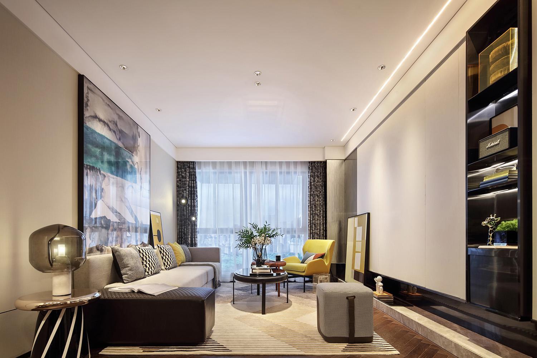 重慶110平現代簡約風格-三居室裝修設計案例分享