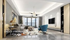 汕頭宜華城現代簡約三居室裝修案例,溫馨舒適!