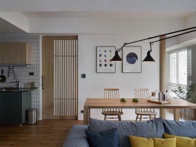 重庆蓝光林肯公园100平简约日式三居室装修,MUJI气质浓郁