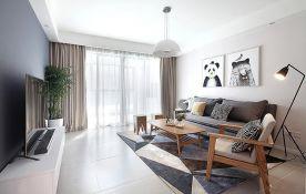 重慶89㎡現代簡約三居室,慵懶而隨性的質感生活