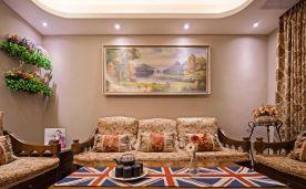 宜昌恒大林溪郡100平美式风格三居室装修效果图