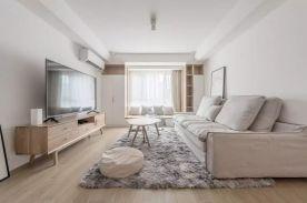 福州小年轻的92㎡日式MUJI风2室2厅装修,多功能书房实用性逆天!