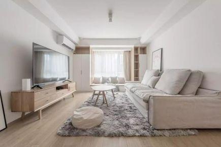 福州小年輕的92㎡日式MUJI風2室2廳裝修,多功能書房實用性逆天!