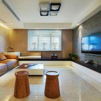 福州优雅现代简约三居室装修效果图