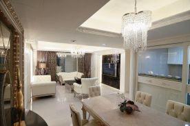 福州奢华简欧式三居室装修,不张扬的奢华尽显时尚与大气!