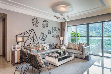 杭州创一居景上公寓二居室后现代装修效果图