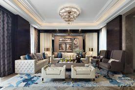 广州港式风格奢华复式装修,演绎现代港式设计