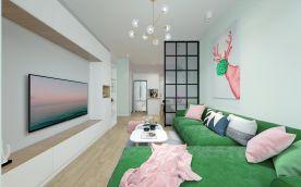 深圳世纪春城北欧风格二居室装修效果图