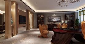 南京现代中式风格酒店装修效果图展示