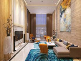 深圳现代中式顶层复式装修,优雅而极富韵味!