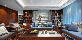 广州四居室新中式风装修,富有东方韵味的浪漫家居