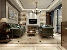 广州四居室新古典风的装修风格,满足自己对奢华浪漫的追求