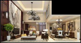宁波香颂湾中式别墅装修,最美不过中国风
