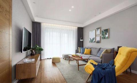 广州简约风格装修,温润三居室舒服自在!
