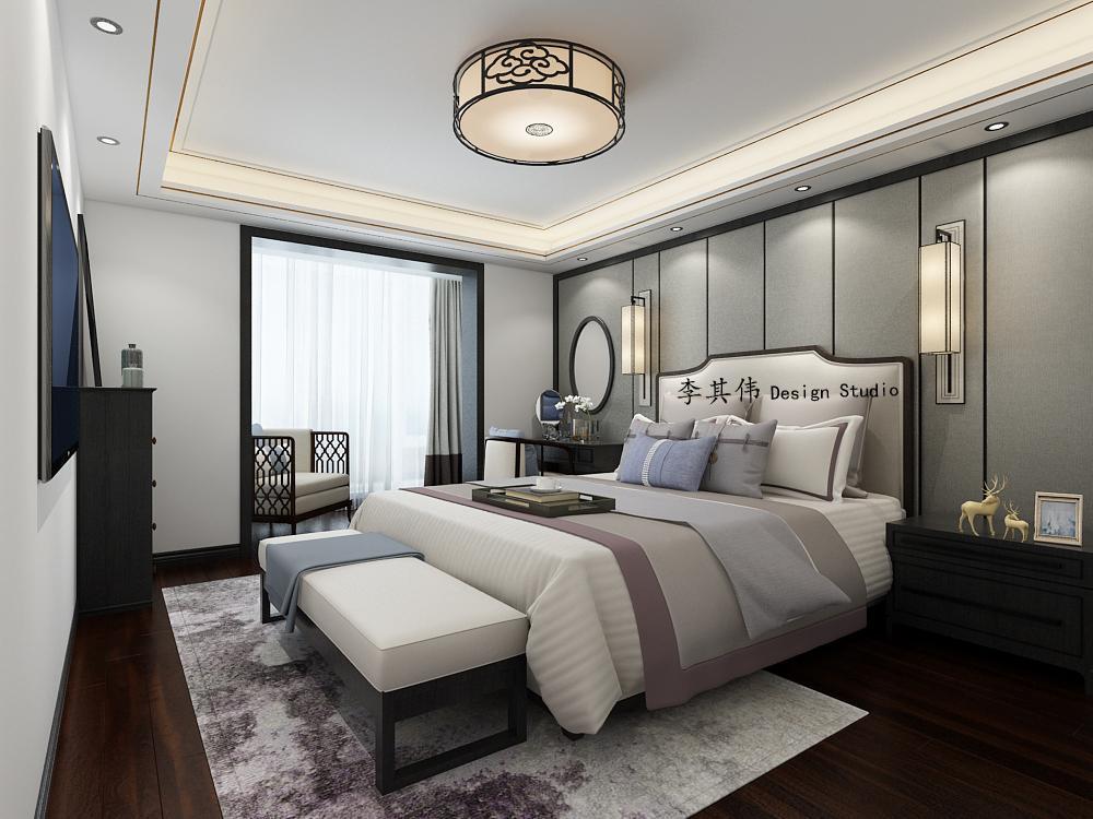 北京中国风三居装修,如唐诗般古雅