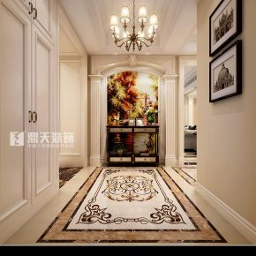 宁波藏珑四居室大平层美式装修,大气舒适的格调之家!
