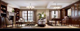 宁波龙溪谷别墅美式风格装修效果图