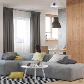 杭州创一居装饰东和新区简约北欧风格复式装修效果图