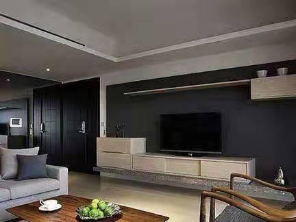 贵阳现代简约二居室装修效果图