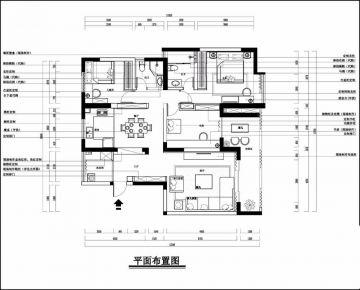 广州简约三室装修,优雅不失大气