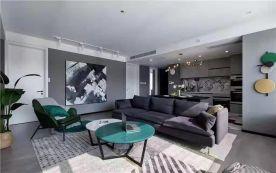 贵阳现代二居装修,高级黑白灰缔造品质生活!