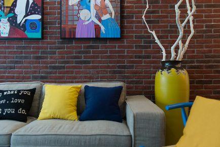 杭州创一居金帝海珀雅苑创意混搭风格二居室装修效果图
