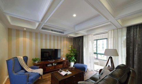 成都江宇天府城美式风格三居室装修效果图