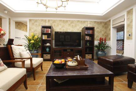福州175㎡经典美式三居室装修效果图