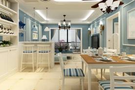 济南地中海风格三居装修,邂逅那一片蔚蓝
