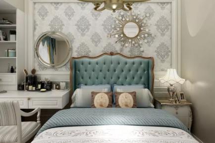 济南轻奢欧式风格三居室装修效果图