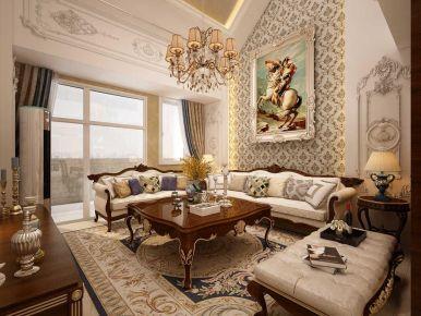北京奢华欧式风格复式装修效果图
