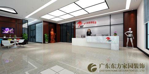 惠州大红马办公室现代风格装修效果图